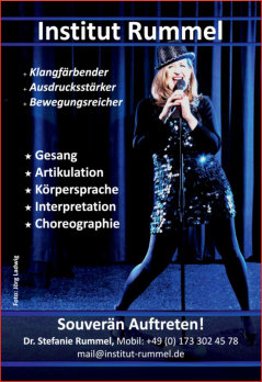 Institut Rummel, Frankfurt, Germany  - Sing, Dance Act - Estill Voice Training